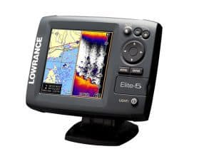 Lowrance Elite-5 TI fish finder