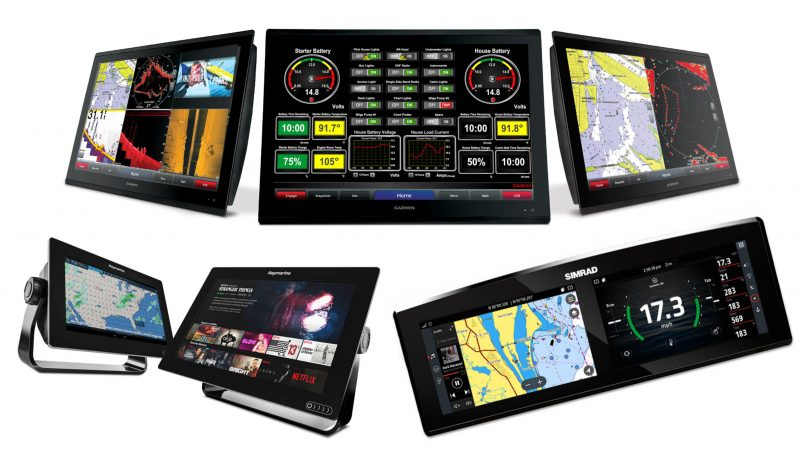 Multifunction Displays from Garmin, Navico, and Raymarine
